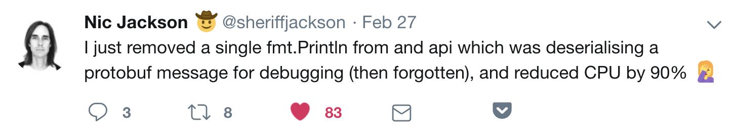 string perf tweet